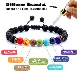 Anxiety bracelet oil diffuser bracelet,